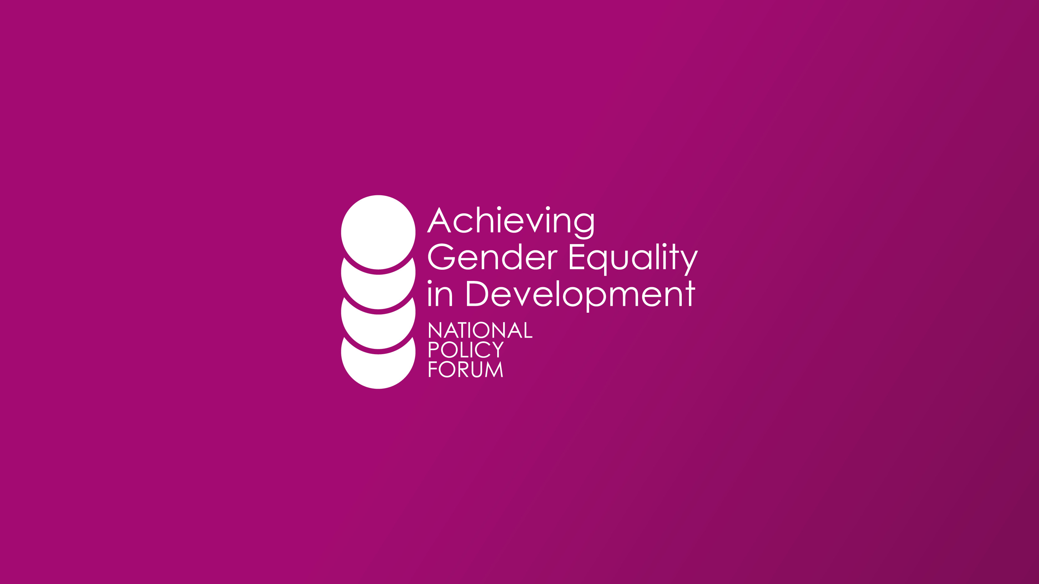 Achieving Gender Equality in Development logo